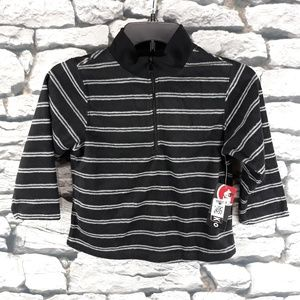 Sprockets - Black White Striped Sweater - NEW NWT
